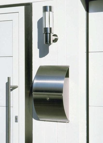 cps metall baubeschlags zubeh r edelstahl wandbriefkasten mit integriertem zeitungsfach. Black Bedroom Furniture Sets. Home Design Ideas